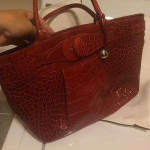 Like new Furla red leather purse